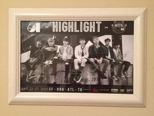 Signed BTS Poster
