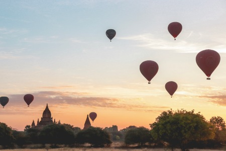 Bagan Myanmar Hot Air Balloons